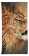 Lion Roar Profile Beach Towel