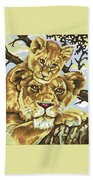 Lioness And Son Beach Towel