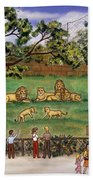 Lions At The Zoo Beach Towel
