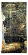 Lippi  Fra Filippo Painting Year1463 Beach Towel