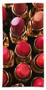 Lipstick Rows Beach Towel