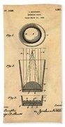 Liquershot Glass Patent 1925 Sepia Beach Towel