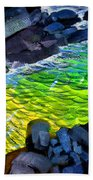 Liquid Abstract Eleven Beach Towel
