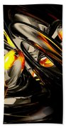 Liquid Chaos Abstract Beach Towel