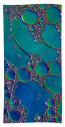 Liquid Turquoise River Stone  Beach Towel