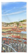 Lisbon Aerial Enjoying Beach Towel