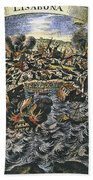 Lisbon Earthquake, 1755 Beach Towel
