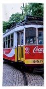 Lisbon Tram Beach Towel