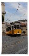 Lisbon Trolley 10 Beach Towel