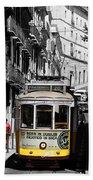 Lisbon Trolley 16c Beach Towel