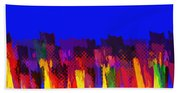 Lisse - Tulips Colors On Blue Beach Towel