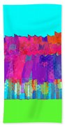 Lisse - Tulips Lighter Blue On Gree Beach Towel