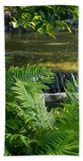 Listen To The Babbling Brook - Green Summer Zen Beach Towel