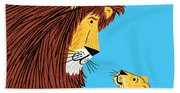 Listen To The Lion Beach Towel