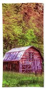 Little Barn In The Smokies Beach Towel