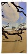 Little Blue And Driftwood Beach Beach Towel by Lisa Wooten