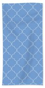 Little Boy Blue Quatrefoil Beach Towel