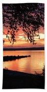 Little Breakwall Sunset Beach Towel