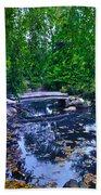 Little Bridge - Japanese Garden Beach Towel