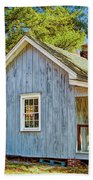 Little Cabin In The Country Pine Barrens Of New Jersey Beach Towel