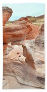 Little Castle Above Wash 3 In Valley Of Fire Beach Towel