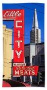 Little City Sign North Beach Beach Towel
