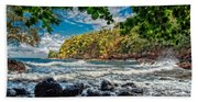Little Cove On Hawaii' Beach Towel