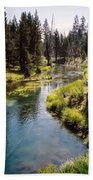 Little Deschutes Photograph Beach Towel