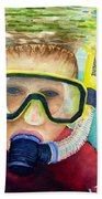 Little Diver Beach Towel