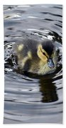 Little Duckling Goes For A Swim Beach Towel