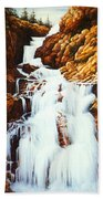 Little Firehole Falls Beach Towel