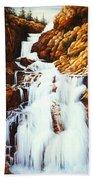 Little Firehole Falls Beach Towel
