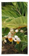 Little Flower In The Leaves II Beach Towel