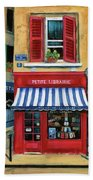 Little French Book Store Beach Towel
