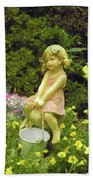 Little Girl With Pail Beach Towel