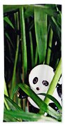 Little Glass Pandas 59 Beach Towel