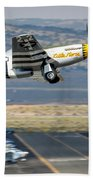 P51 Mustang Little Horse Gear Coming Up Friday At Reno Air Races 5x7 Aspect Signature Edition Beach Towel