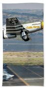 P51 Mustang Little Horse Gear Coming Up Friday At Reno Air Races 5x7 Aspect Beach Towel