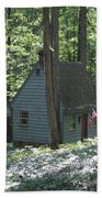 Little House In The Woods Beach Towel