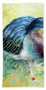 Little Night Heron Beach Towel