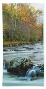 Little Pigeon River Great Smoky Mountains National Park In Fall Beach Towel