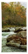 Little Pigeon River In The Greenbrier Section Of Smoky Mountains Beach Towel