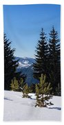 Little Pine Forest - Impressions Of Mountains Beach Towel