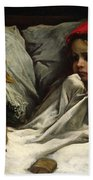Little Red Riding Hood Beach Towel by Gustave Dore