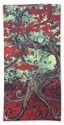 Little Red Tree Series 3 Beach Towel