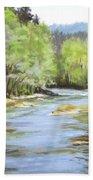Little River Morning Beach Towel