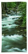 Little River Tremont Area Of Smoky Mountains National Park Beach Towel