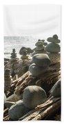 Little Stone Sculptures Beach Sheet