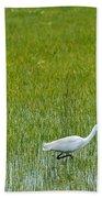 Little White Egret Beach Towel