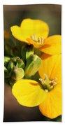 Little Yellow Flowers Beach Towel